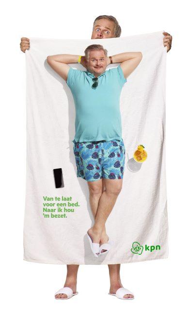 Bedrukte handdoek KPN