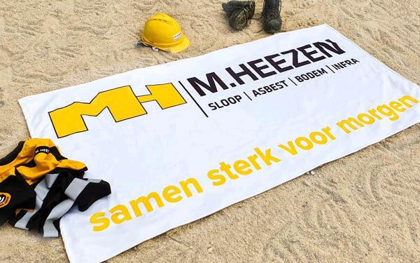 Handdoek bedrukken met logo