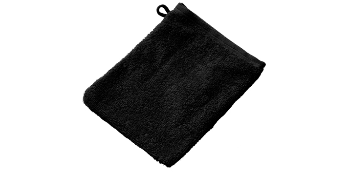 Zwarte washandjes inweven