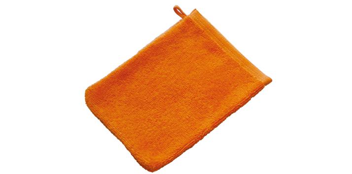 Oranje washandjes bedrukken